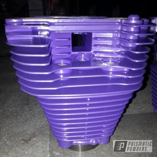 Powder Coating: Clear Vision PPS-2974,Motorcycles,Pro-Cosmic Purple PMB-1982