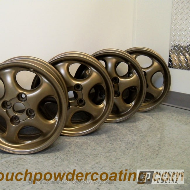 Powder Coating: Wheels,Powder Coated Toyota Wheels,Tomic Black EMB-1046