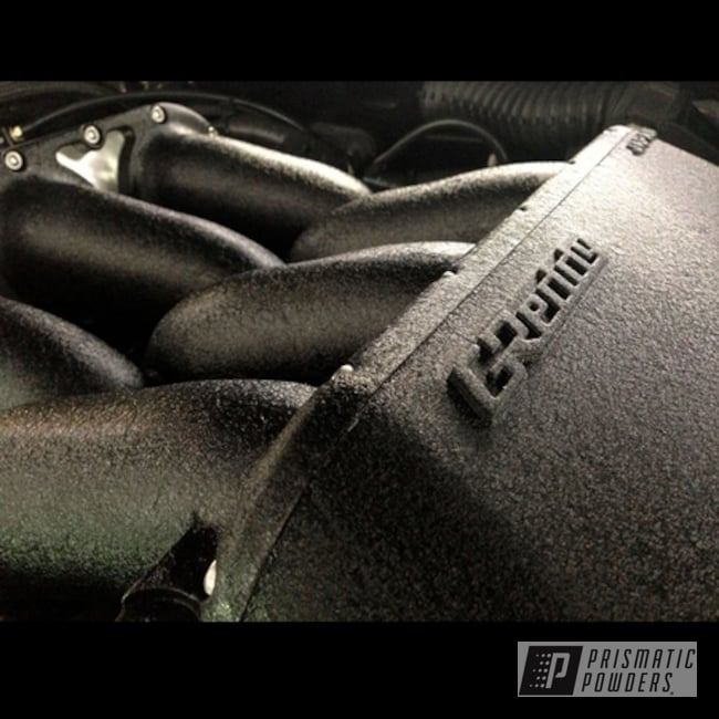 Powder Coating: Splatter Black PWS-4344,Automotive,Powder Coated Valve Cover Nissan R35 GTR,Valve Cover