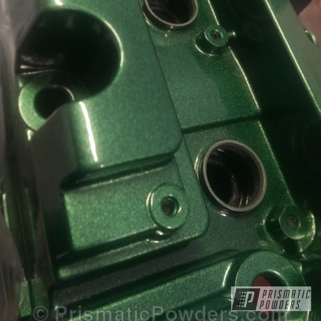 Powder Coating: Automotive,Clear Vision PPS-2974,Illusion Gambler PMB-6916,Powder Coated Valve Cover,Valve Cover