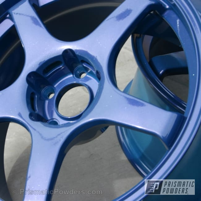 Powder Coating: Wheels,Silver Sparkle PPB-4727,Blueberry Red PMB-2399,Powder Coated Wheels