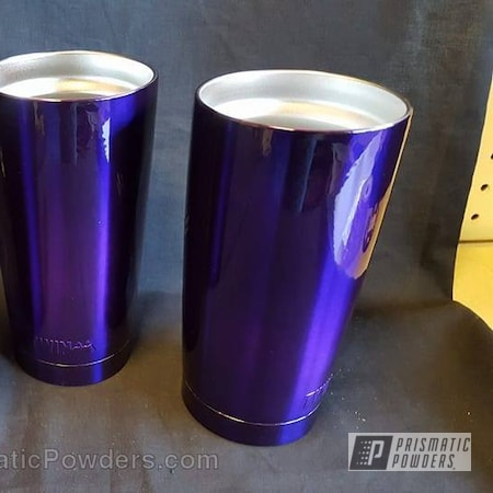 Powder Coating: Single Powder Application,Custom Cups,Lollypop Purple PPS-1505,Miscellaneous