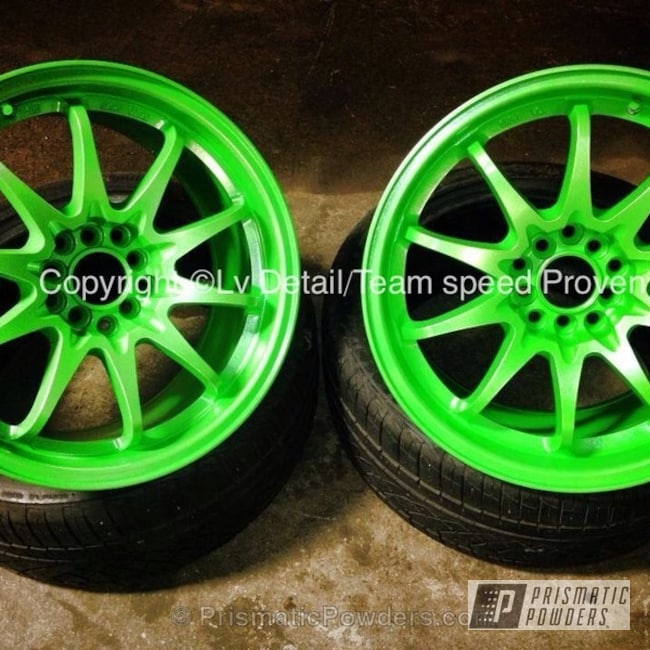 Powder Coating: Wheels,Powder Coated Rota Wheels,Altered Green PMB-4947