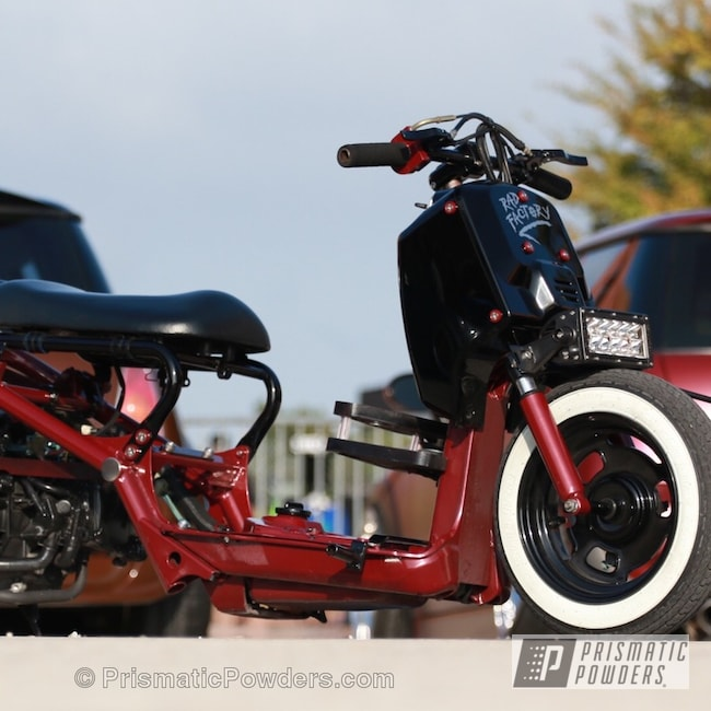 Powder Coating: GLOSS BLACK USS-2603,motorcycle,Motorcycles,Hunters Red PMB-1335