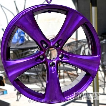 Lollypop Purple Over Super Chrome With Clear Vision Top Coat