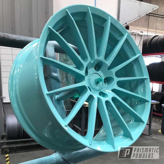 Powder Coating: Single Powder Application,Wheels,Automotive,Sea Foam Green PSS-4063,Custom Automotive Wheels