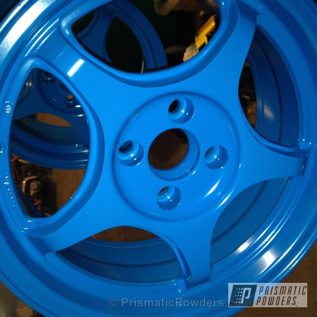 Powder Coating: Wheels,Bic Blue PSB-6932