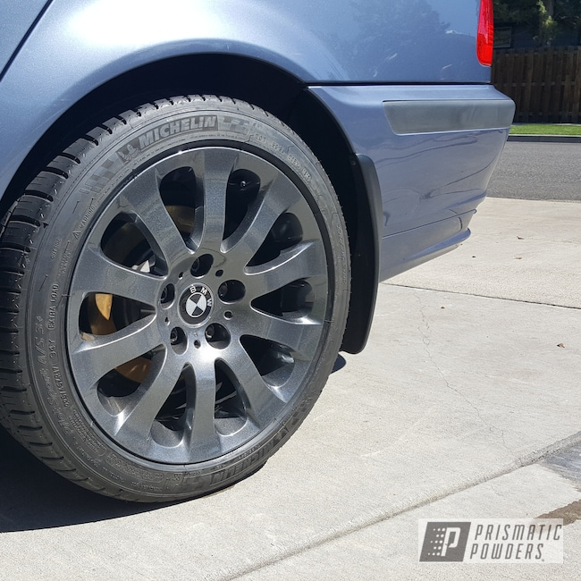Powder Coating: Wheels,Automotive,Clear Vision PPS-2974,Speedway Grey PMB-4911,Clear Top Coat