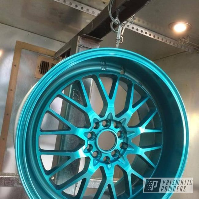 Powder Coating: Wheels,VIRGINIA TEAL UPB-1861,SUPER CHROME USS-4482,chrome