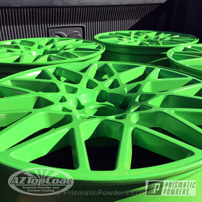 Powder Coating: Wheels,Green Mirage PMB-2987
