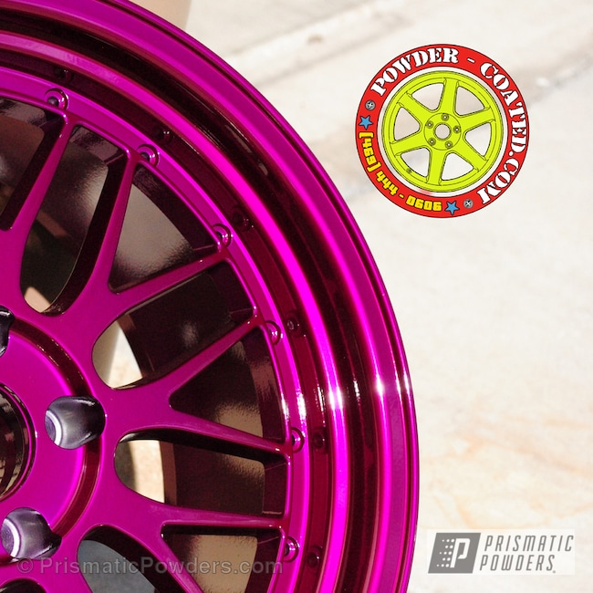 Powder Coating: Wheels,Clear Vision PPS-2974,Illusion Violet PSS-4514
