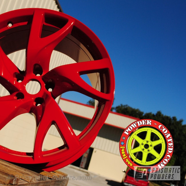 Powder Coating: Wheels,Red Powder Coated Wheels,Very Red PSS-4971