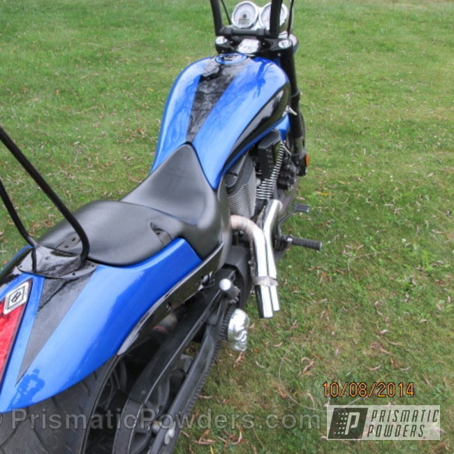 Powder Coating: Illusion Blue-Berg PMB-6910,American Sparkle PMB-4425,Clear Vision PPS-2974,motorcycle,Motorcycles