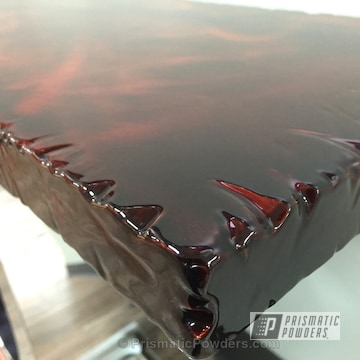 Custom Table Top Coated In Transparent Copper