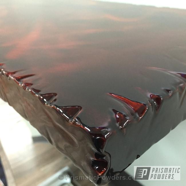 Powder Coating: Custom,Transparent Copper PPS-5162,Copper,powder coating,Custom Table Top,powder coated,Prismatic Powders,Art