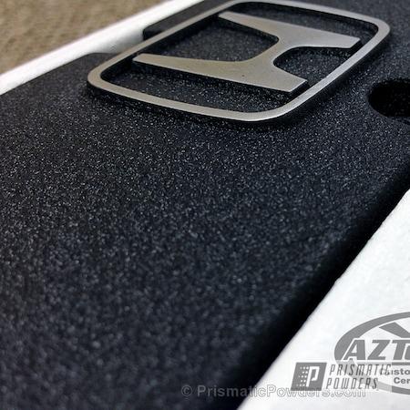 Powder Coating: Custom,Automotive,White,Honda,Desert White Wrinkle PWS-2763,powder coating,powder coated,Desert Nite Black PWS-2859,Black Texture,Wrinkle,Black,Prismatic Powders,Textured