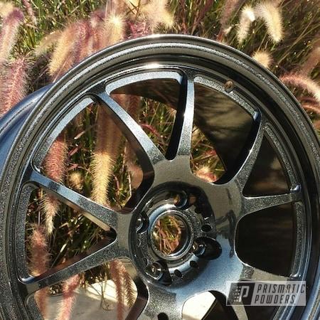 Powder Coating: Wheels,Custom,Black,powder coating,sparkle,powder coated,Prismatic Powders,Spiced Black PMB-4430