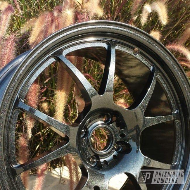 Powder Coating: Wheels,Custom,wheel,Black,powder coating,sparkle,powder coated,Prismatic Powders,Spiced Black PMB-4430