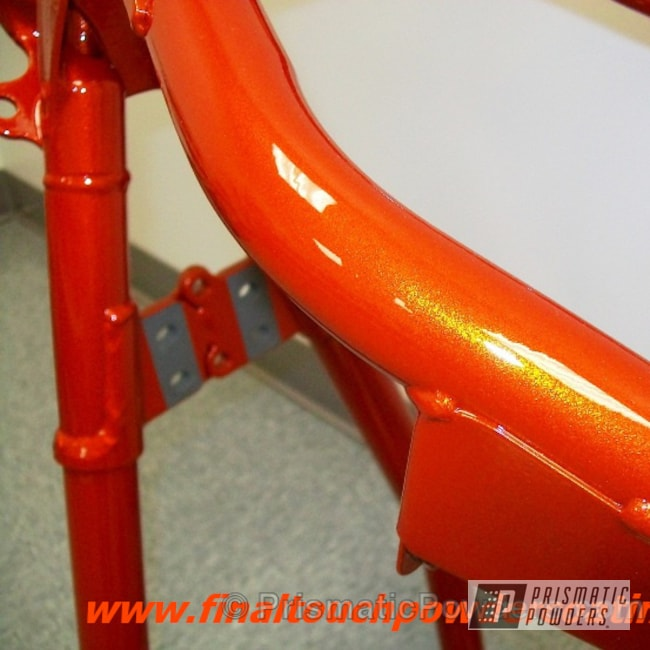 Powder Coating: Clear Vision PPS-2974,Orange Tangelo PPB-2324,Motorcycles,Hot Orange Sparkle PMB-6311