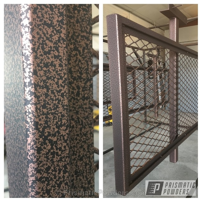 Powder Coating: US Penny Vein EVS-4485,Clear Top Coat,Casper Clear PPS-4005,Deck Railing,Textured,Miscellaneous