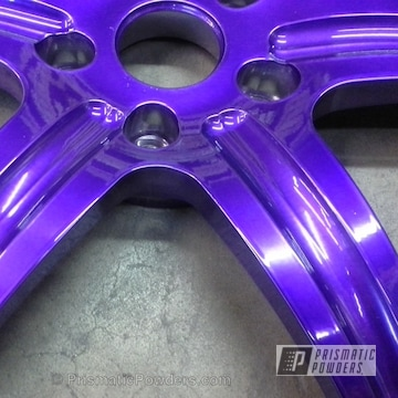 Super Chrome With Lollypop Purple Top Coat