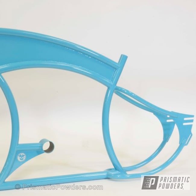 Powder Coating: Custom,Bicycles,Bike Frame,blue,powder coating,powder coated,Prismatic Powders,Navajo Nugget PSB-6838,light blue
