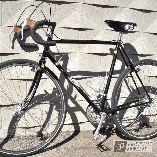 Powder Coating: Custom,Bicycles,Bike Frame,Black,MATT BLACK BRONZE UMB-4937,powder coating,powder coated,Prismatic Powders,Bicycle