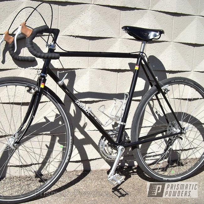 Powder Coating: Custom,Bicycles,Bike Frame,Black,powder coating,Matte Black Bronze UMB-4937,powder coated,Prismatic Powders,Bicycle