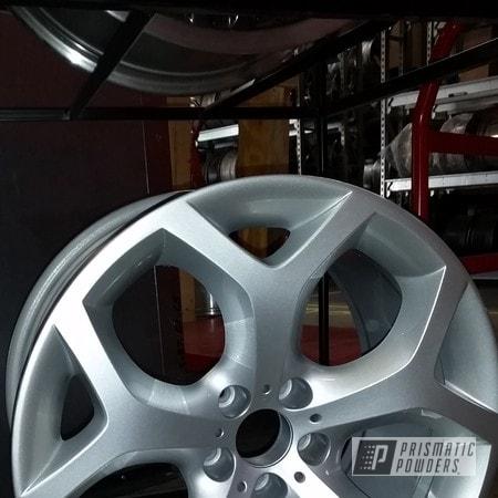 Powder Coating: Wheels,Custom,BMW Silver PMB-6525,Clear Vision PPS-2974,powder coating,Silver wheels,powder coated,Prismatic Powders