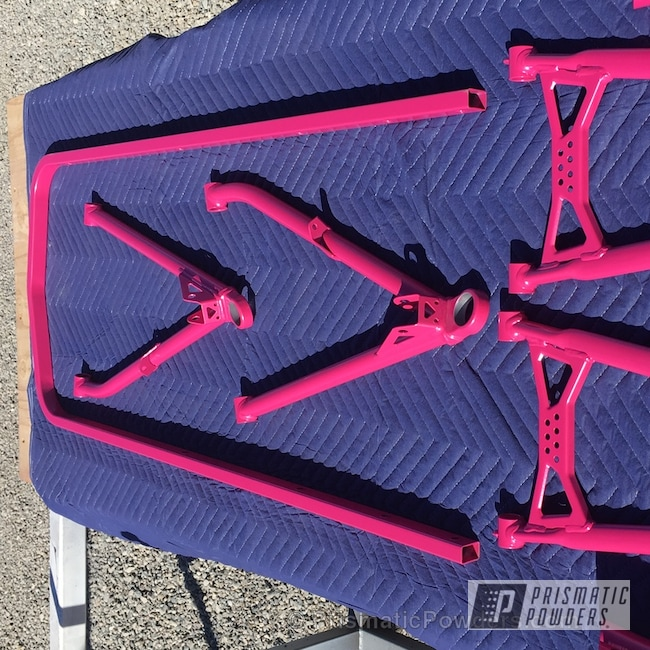 Powder Coating: Single Powder Application,Skidoo Snowmobile Parts,Lazer Polka Dot Pink PMB-2340,Miscellaneous