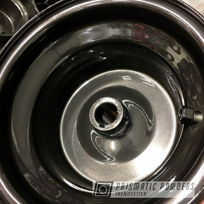 Powder Coating: Wheels,Black Chrome II PPB-4623,Clear Vision PPS-2974,SUPER CHROME USS-4482,chrome,Three Powder Application,Clear Top Coat,Chrome Base Coat,Go Kart Rims Restoration,Miscellaneous