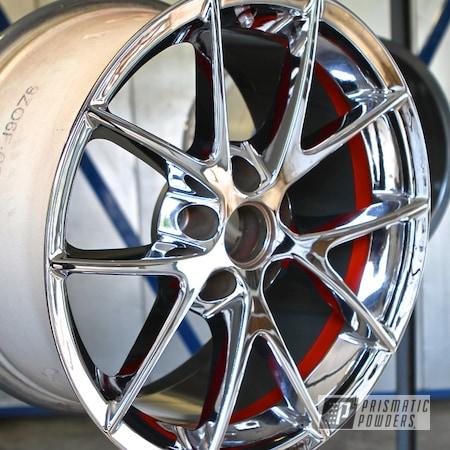 Powder Coating: Wheels,Custom,Flame Red PSS-5082,Black,Red,powder coating,Two Tone Wheels,powder coated,Prismatic Powders
