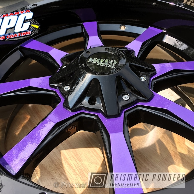 Powder Coating: Wheels,Custom Jeep Wheels,Clear Vision PPS-2974,Ink Black PSS-0106,Moto Metal,Off-Road,Three Powder Application,Clear Top Coat,Two Tone