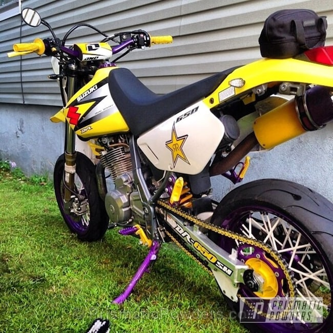 Yes Yellow with Anodized Purple over Super Chrome