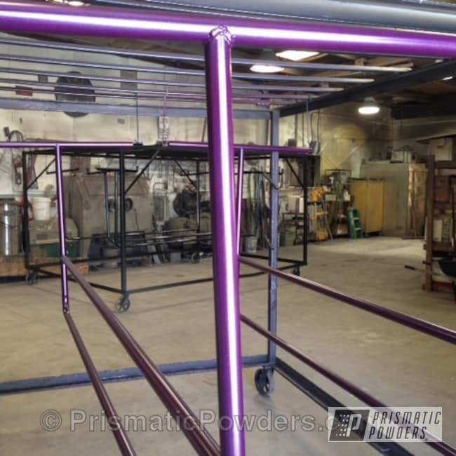 Powder Coating: GRAPE MADNESS UPB-1763,Custom,Ballet Bars,Purple,powder coating,powder coated,Prismatic Powders,Miscellaneous