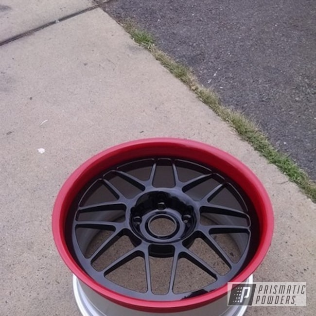 Red Vine And Gloss Black And Porsche Silver