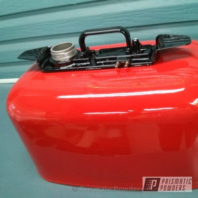 Powder Coating: Clear Vision PPS-2974,Ink Black PSS-0106,Three Powder Application,Clear Top Coat,Astatic Red PSS-1738,Boat Fuel Tank,Miscellaneous