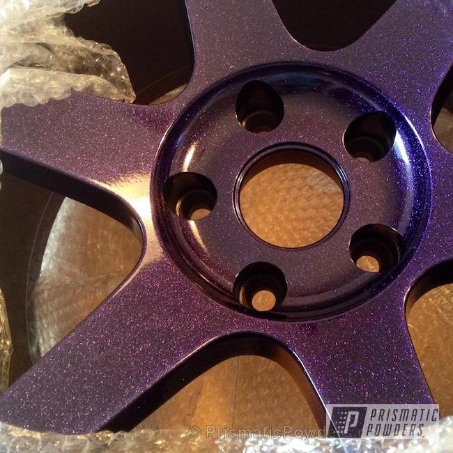 Powder Coating: Wheels,Custom,Chameleon Violet PPB-5731,Ink Black PSS-0106,Purple,powder coating,powder coated,Prismatic Powders