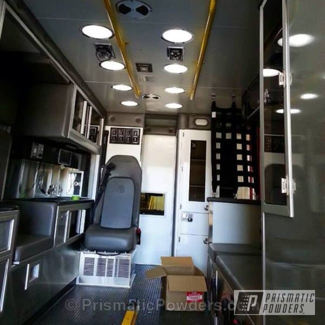 Powder Coating: Traffic Yellow PSS-2380,powder coating,Ambulance,powder coated,Prismatic Powders,Custom Ambulance,Miscellaneous