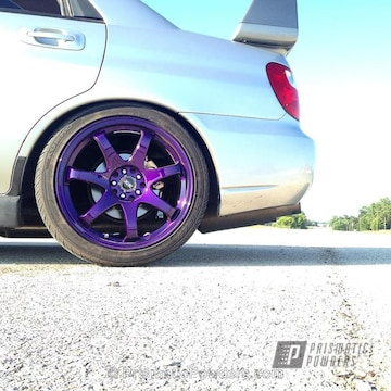 Subaru Wheels Coated In Illusion Purple And Clear Vision