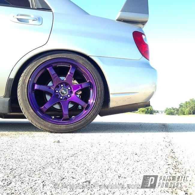 Powder Coating: Illusion Purple PSB-4629,Wheels,Automotive,Clear Vision PPS-2974,powder coating,Subaru,powder coated,Prismatic Powders,Suburu Wheels,Powder Coated Subaru Wheel,Purple wheels