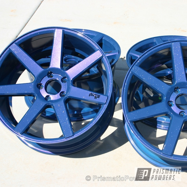 Powder Coating: Wheels,Blue wheels,Silver Sparkle PPB-4727,Blueberry Red PMB-2399,Custom Wheels,Ink Black PSS-0106,powder coating,Powder Coated Wheels,powder coated,Prismatic Powders