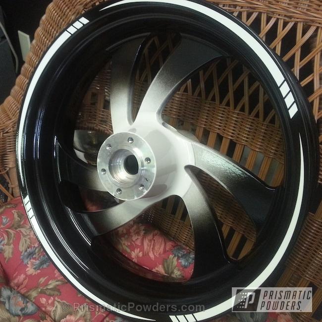 Powder Coating: Wheels,Clear Vision PPS-2974,Escalade White PMB-5977,GLOSS BLACK USS-2603,powder coating,powder coated,Prismatic Powders,Black and White Wheels
