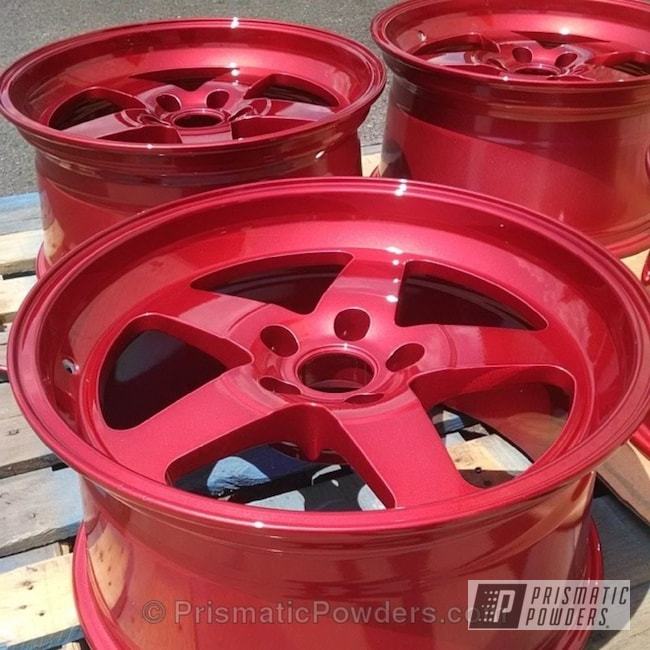 Powder Coating: Wheels,Custom,wheel,LOLLYPOP RED UPS-1506,red,Shredded Silver PMB-1551,powder coating,powder coated,Prismatic Powders