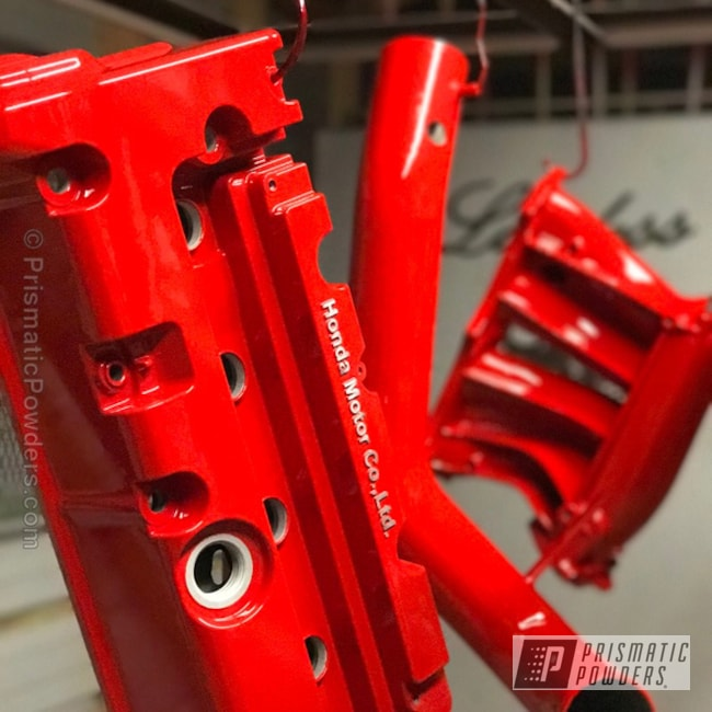 Powder Coating: Automotive,Clear Vision PPS-2974,Really Red PSS-4416,K20 Valve Cover,Honda,Clear Vision Top Coat,Valve Cover
