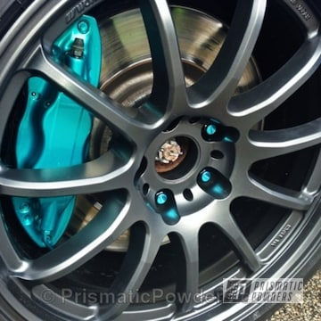 Evo Grey And Super Chrome With Jamaican Teal Top Coat