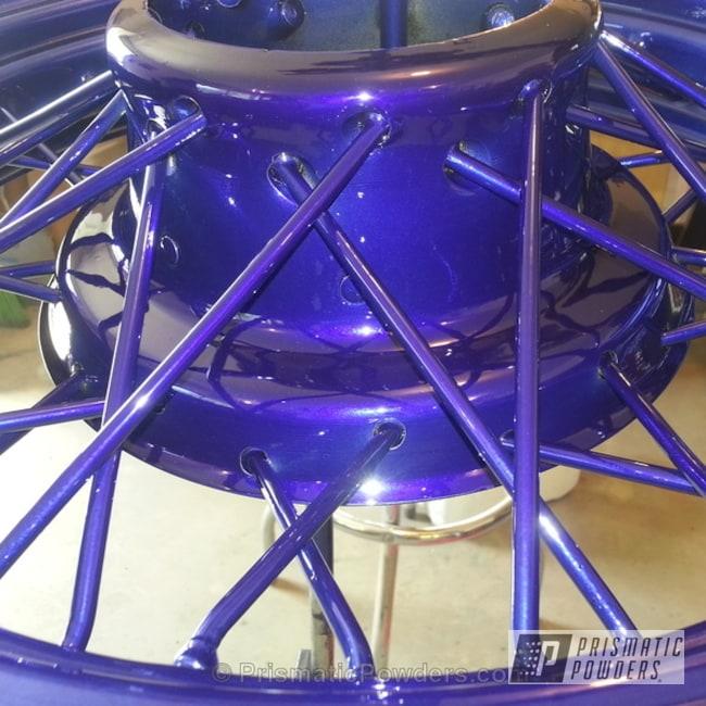 Powder Coating: Wheels,SUPER CHROME USS-4482,chrome,Blue,powder coated,Spoke Wheel,Bentley Blue PPB-4711,1933 Chevy