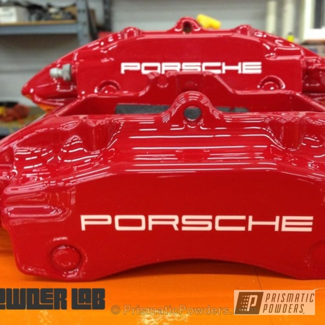 Powder Coating: Automotive,Clear Vision PPS-2974,Really Red PSS-4416,Porche Calipers