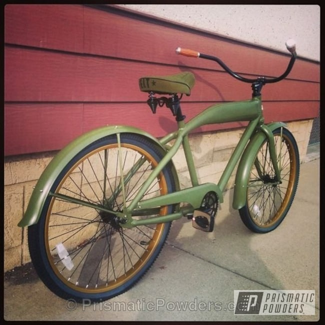 Powder Coating: Bicycles,Army Green PSB-4944