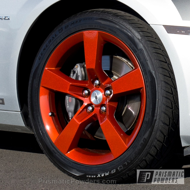 Powder Coating: Wheels,Custom,Clear Vision PPS-2974,powder coating,powder coated,Prismatic Powders,Illusion Rootbeer PMB-6924,Orange Wheels